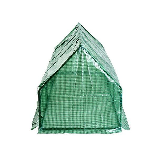 Outsunny Serra da giardino a tunnel in PE telaio in acciaio 270x90x90cm verde trasparente 5 spesavip