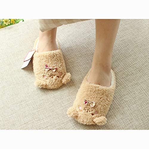 Cartoon Brown Memory Slippers Foam Women Comfort Home Non Home Cute Slip Luobote Indoor Shoe 4TwfxqB4