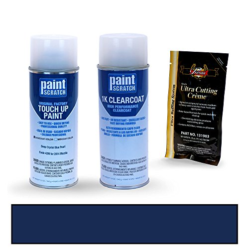 PAINTSCRATCH Deep Crystal Blue Pearl 42M for 2014 Mazda CX-5 - Touch Up Paint Spray Can Kit - Original Factory OEM Automotive Paint - Color Match Guaranteed