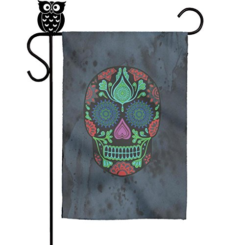 Kaiui Aidof Decorative Garden Flags skull flower Party House