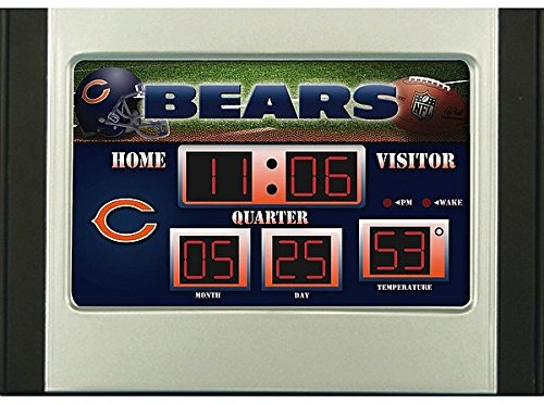 Scoreboard Mlb Clock (Chicago Bears Scoreboard Desk & Alarm Clock - NFL Licensed)