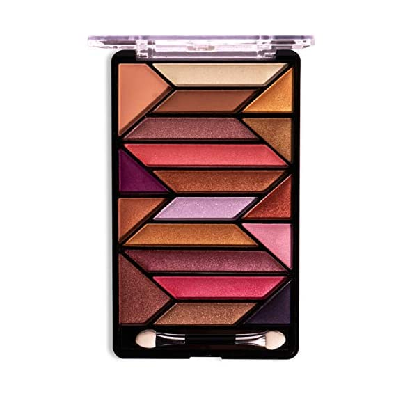 Shryoan Set of 19 Colourful and Shimmery Eyeshadow Shades Makeup Palette/Kit for Glittery Finish for Women & Girls - 21G