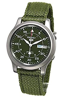 Seiko Men's SNK805 Seiko 5 Automatic Stainless Steel Watch with Green Canvas (B000LTAY1U) | Amazon Products