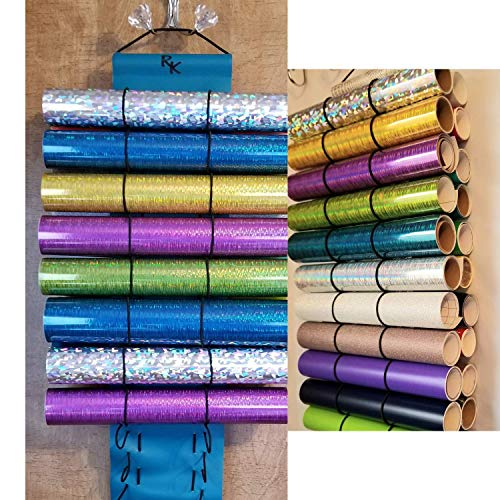 Vinyl Roll Holder,Diamond Painting, 25 Roll Capacity, Teal, by The Roll Keeper from The Roll Keeper