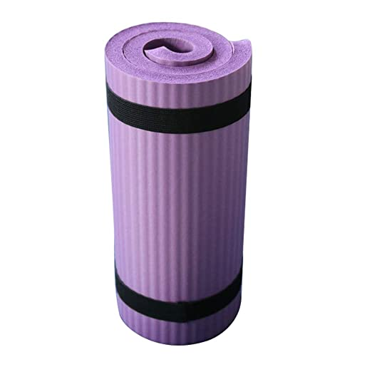 Esterilla de yoga, antideslizante, gruesa, para ejercicio, ecológica, para yoga, pilates y gimnasia, fitness, mujeres y hombres, color Morado, tamaño ...