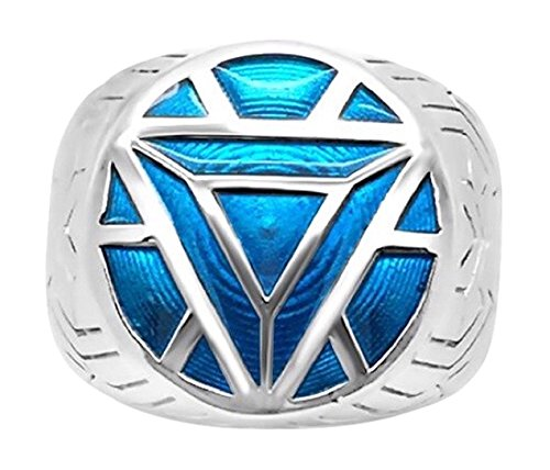 Marvel's Iron Man ArmorMen's Ring in Sterling Silver  - 6 Turquoise