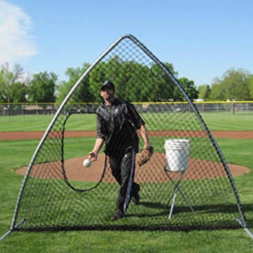 TAG Softball A-Frame Screen with Carry Bag, Left or Right Handed Pitcher Protection by TAG