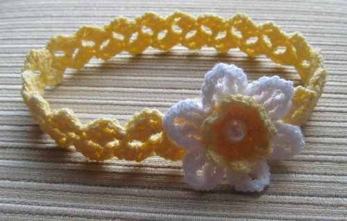 Crochet Pattern Baby Girl Headband With A White Daffodil Kindle