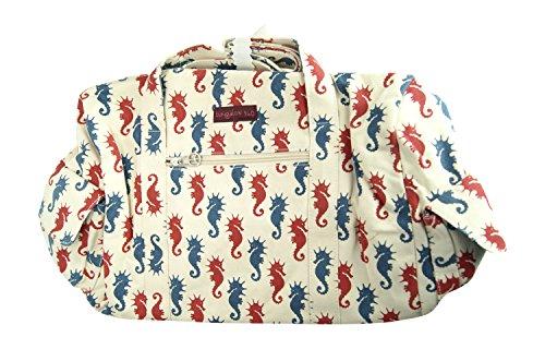 Bungalow360 Vegan Cotton Canvas Duffle Gym Bag (Cotton Carry On)