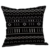 jufengliangyou Geometric Pattern Linen Pillow Pillowcase Cushion Cushion Decorative Backrest Pillow A Variety of Colors (F)