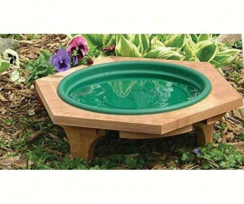2 PACK Mini Garden Bird Bath Green