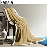 Reversible Sherpa Throw Blanket 50