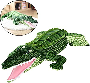 DHQSS Peluche Cocodrilo Modelo Animal de Juguete Almohada Muñeca Juguete Regalo para Niños Novia,160cm