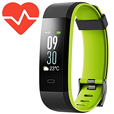 Kinbom Fitness Tracker, Heart Rate Monitor Color Screen Smart Watch With Sleep Monitor, Step Counter, Message Reminder, IP68 Waterproof Activity Tracker for Android&iOS Smart Phone