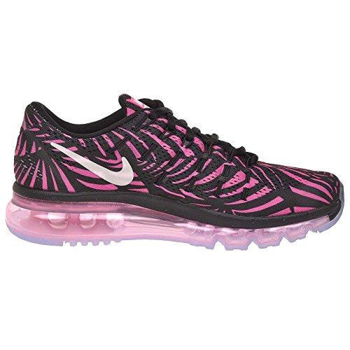 Nike Damen Wmns Air Max 2016 Print Laufschuhe Black (Schwarz / Pearl Pink-Rosa Explosion)