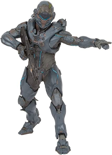 Amazon Com Mcfarlane Toys Halo 5 Guardians 10 Spartan Locke Figure Helmeted Version Toys Games