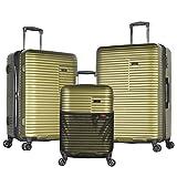 Olympia Taurus 3 Piece Luggage Set 21/25/29 inch, Olive