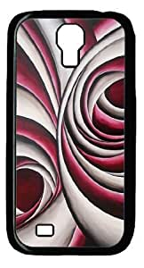 Black PC Case Cover for Samsung Galaxy S4 I9500 Hard Single Back Phone Shell Skin Samsung Galaxy S4 I9500 with Abstract Painting 4