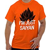 Brisco Brands Just Saiying Funny Super Saiyan DBZ Gym T Shirt Tee