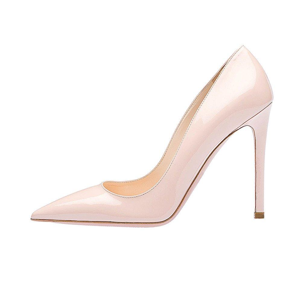 SexyPrey Women's Pointy Toe Stiletto Shoes Formal Office Evening Pumps B074M349CR 5 B(M) US|Beige