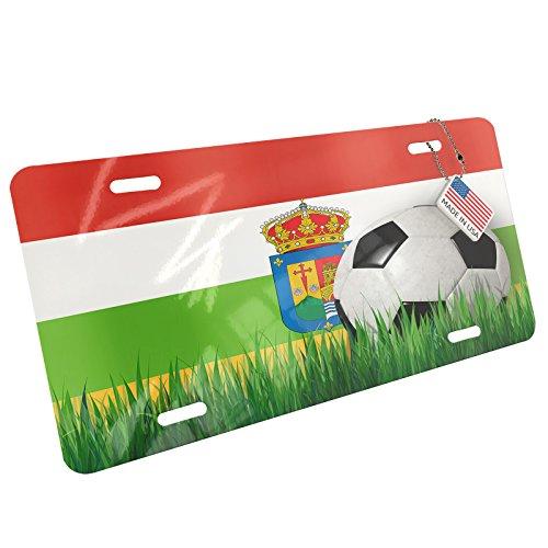 Metal License Plate Soccer Team Flag La Rioja region Spain - Neonblond by NEONBLOND