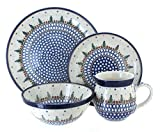 Polish Pottery Rustic Pines 4 Piece Dinner Set
