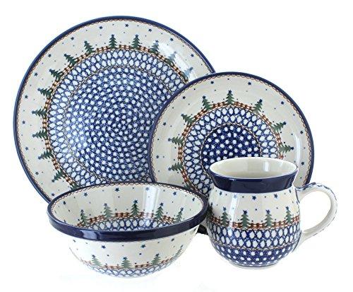 Polish Pottery Rustic Pines 4 Piece Dinner Set by Ceramika Artystyczna