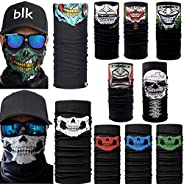 DSRG 10pcs. Breathable Skull Face Mask, Dust Windproof Motorcycle Bicycle Bike Face Mask for Hiking Camping Cl