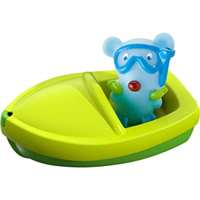 HABA Bath Boat Mouse Ahoy with Removable Scuba Diving Themed Finger Puppet - Great for Bath or Pool: Toys & Games