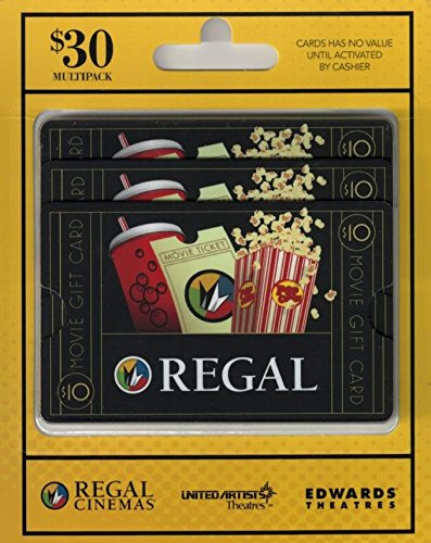 Regal Entertainment  Gift Cards, Multipack of 3 - - Card Entertainment