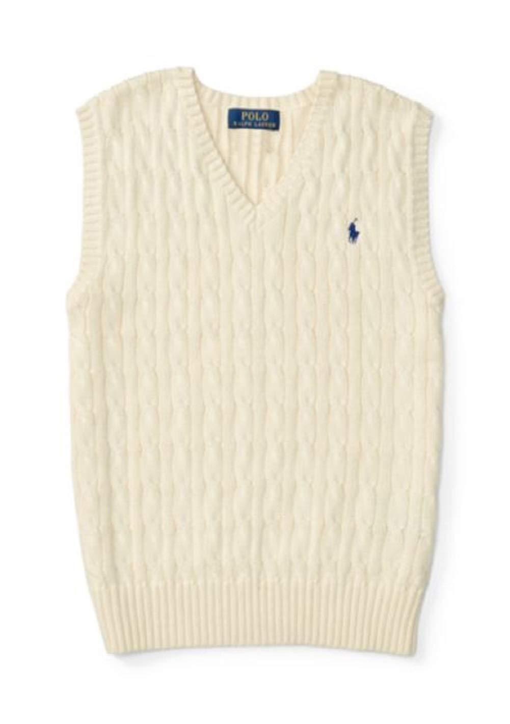 RALPH LAUREN Boys > Sweaters > Cable-Knit Cotton Sweater Vest