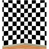 Checkered Backdrop Party Accessory (1 count) (1/Pkg) Pkg/12