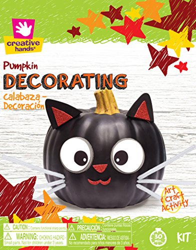Creative Hands Pumpkin Deco Cat Face Decorations