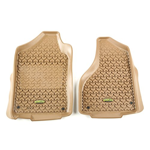 Tan Dodge Ram - Outland 398390305 Tan Front Row Floor Liner For Select Dodge Ram, Ram 1500, 2500 and 3500 Models