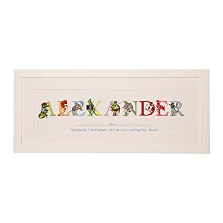 Personalised Babys Name Frame, Nursery Wall Art, Phonetic Alphabet ...