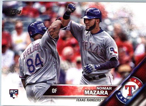 (2016 Topps Update #US158 Nomar Mazara Texas Rangers Baseball Rookie)