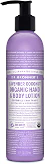 product image for Dr. Bronner's - Organic Lotion (8 Ounce) - Body Lotion and Moisturizer, Certified Organic, Soothing for Hands, Face and Body, Highly Emollient, Nourishes and Hydrates, Vegan (Lavender Coconut)