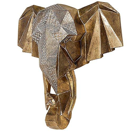 Arredamento, decorazione - Statua, Figura, testa di elefante- stile: etnico - colore: oro - materiale: resina sintetica - dim. ca 46 cm Unbekannt