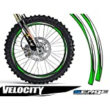 Senge Graphics Velocity Green rim protector set for one 10 inch rim and one 12 inch rim