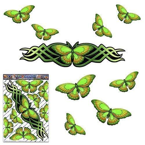 Papillon vert grand autocollant pour voiture Caravanes Camions et bateaux ST00021GR_LGE - JAS Autocollants