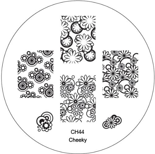 CH44 Professional Nail Art Salon Quality Stamp Template / Stamping Stencil / Image Plate With New Designs By VAGA