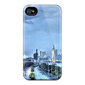 Hunan Bridge In Guangzhou China Hdr Case Compatible With Iphone 4/4s/ Hot Protection Case