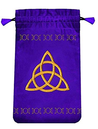 Tarotbeutel (Mini) Samt violett, Dreifache Göttin