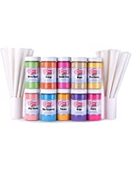 Cotton Candy Express 10 Flavor Cotton Candy Fun Pack with 100 Cones