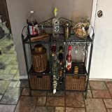 Wine Rack Basket Glass Hanging Rack Organizer Metal Vintage Storage Bottle Wine Rack Rustic Countertop Freestanding Shelves Furniture. & E book by Easy2Find.