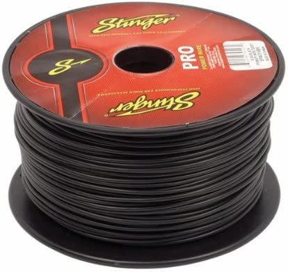 B00TPL23CI Stinger SPW316BK PRO 16 AWG Gauge Power Wire 500-Feet (Black) 51bd8fpEqNL