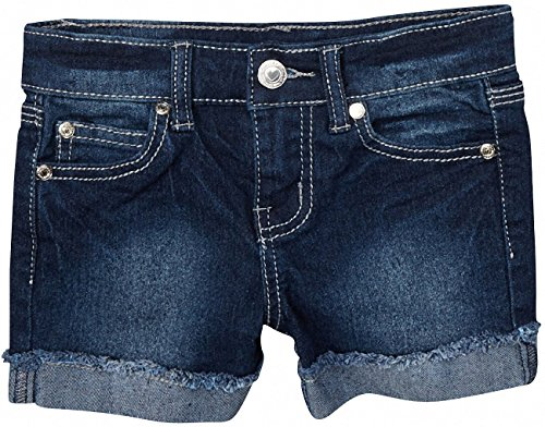 ToBeInStyle Girl's Clean and Dark Looking Denim Mini Shorts - 6X ()