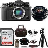 Fujifilm X-T2 Mirrorless Digital Camera (Body Only) w/18mmF2 R WR Lens + Focus 64gb Kit
