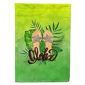 Caroline tesoros del bb7449gf Aloha chanclas bandera Tamaño del jardín, pequeño, multicolor