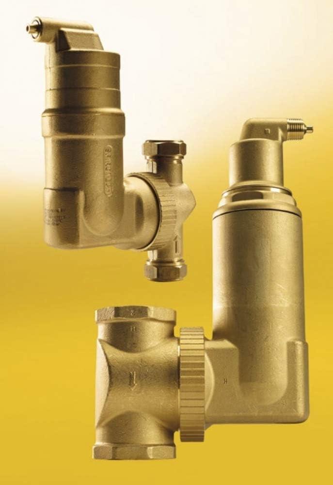 SpiroVent Mikroluftblasenabscheider RV2 3//4 UA075W 360/° Einbau Entl/üfter